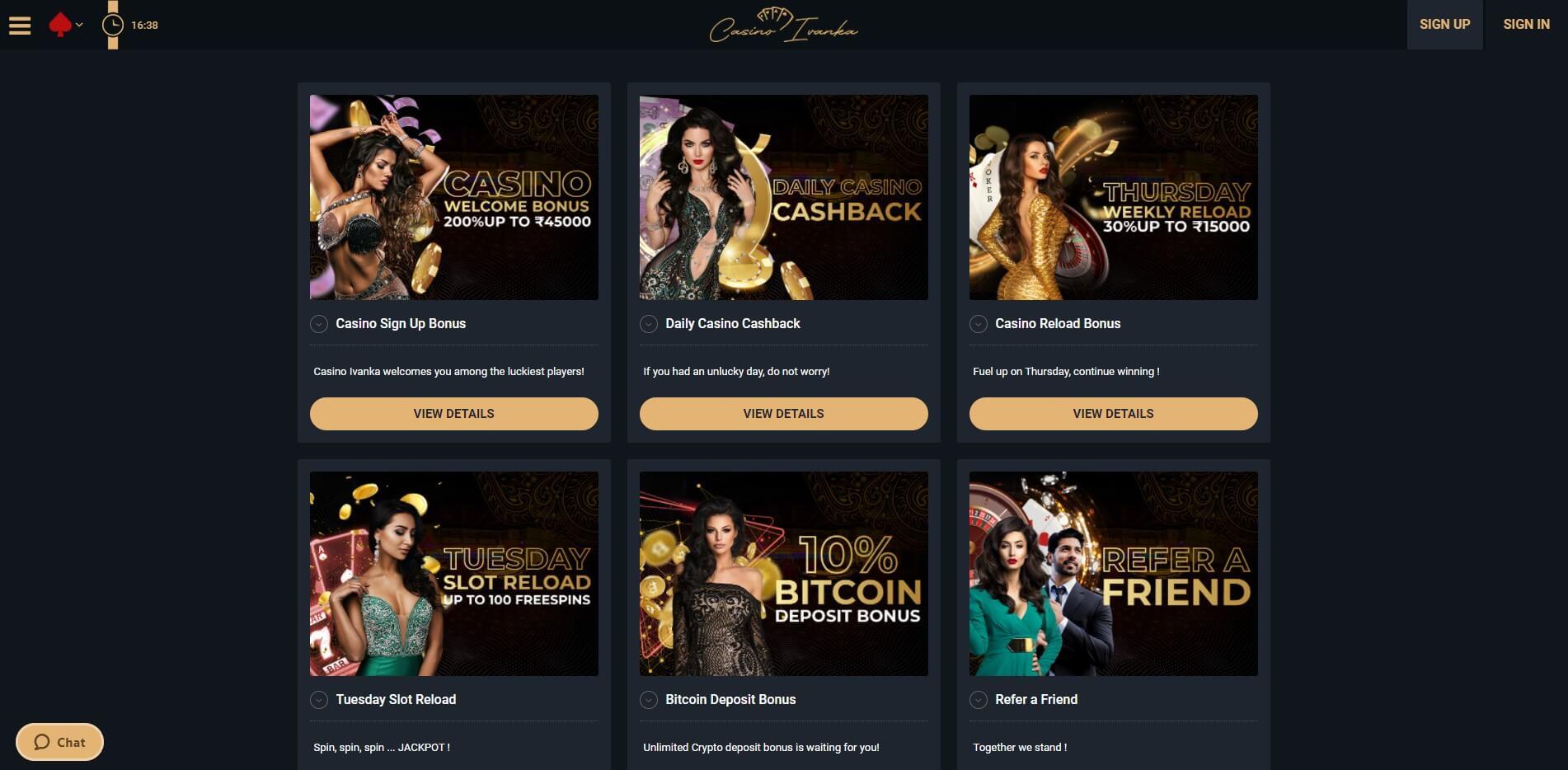 Promotions at Ivanka Casino