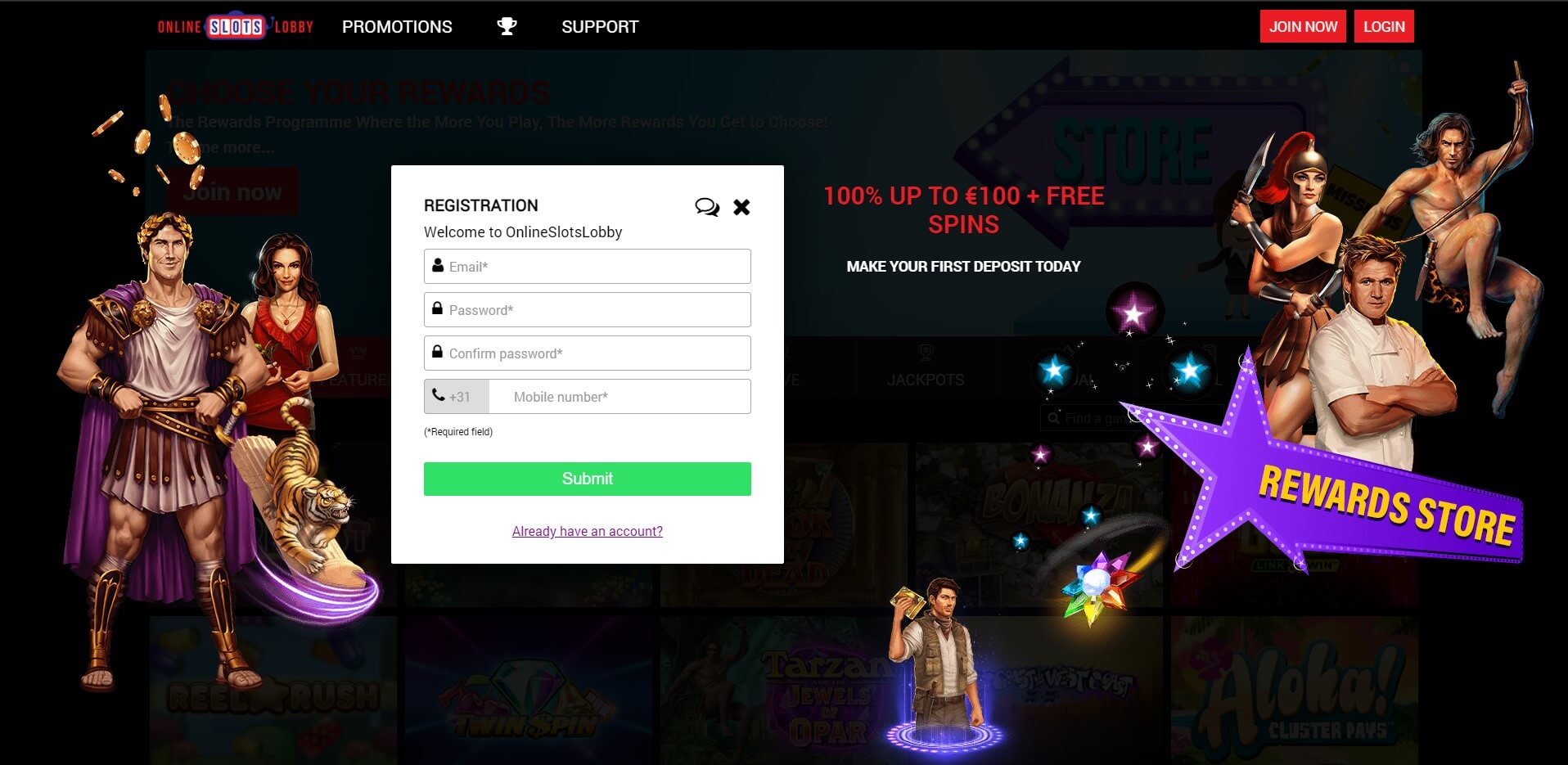 Sign Up at OnlineSlotsLobby Casino