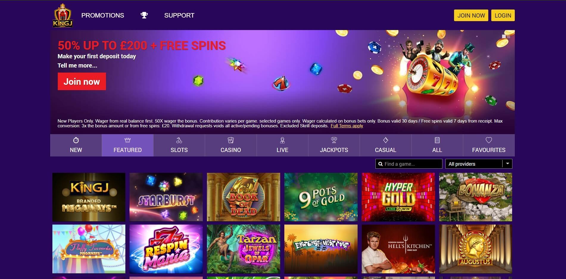 kingcasino.com - Website Review