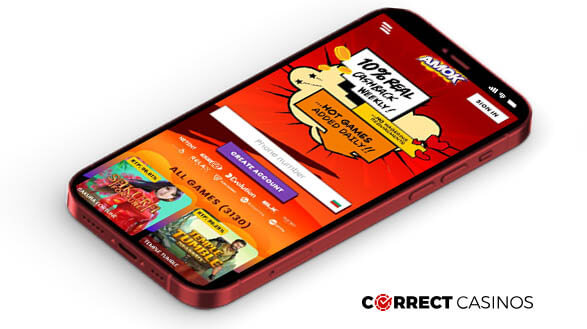 Amok Casino - Mobile Version