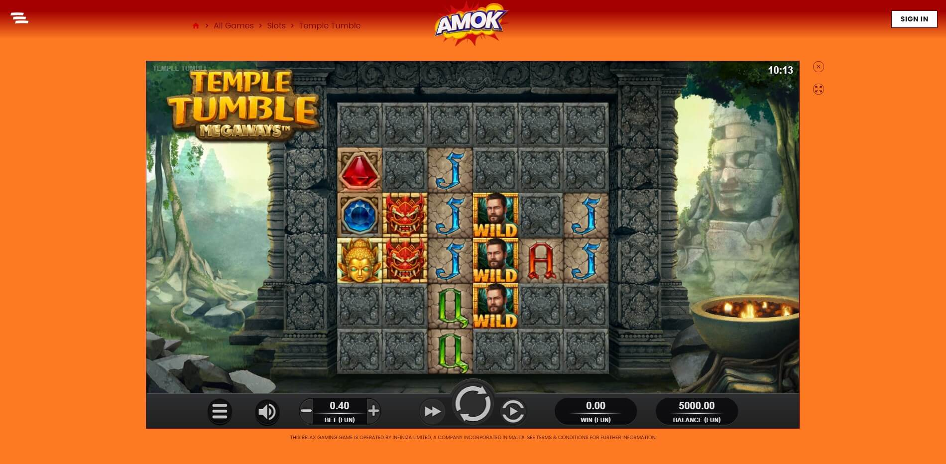 Game Play at Amok Casino