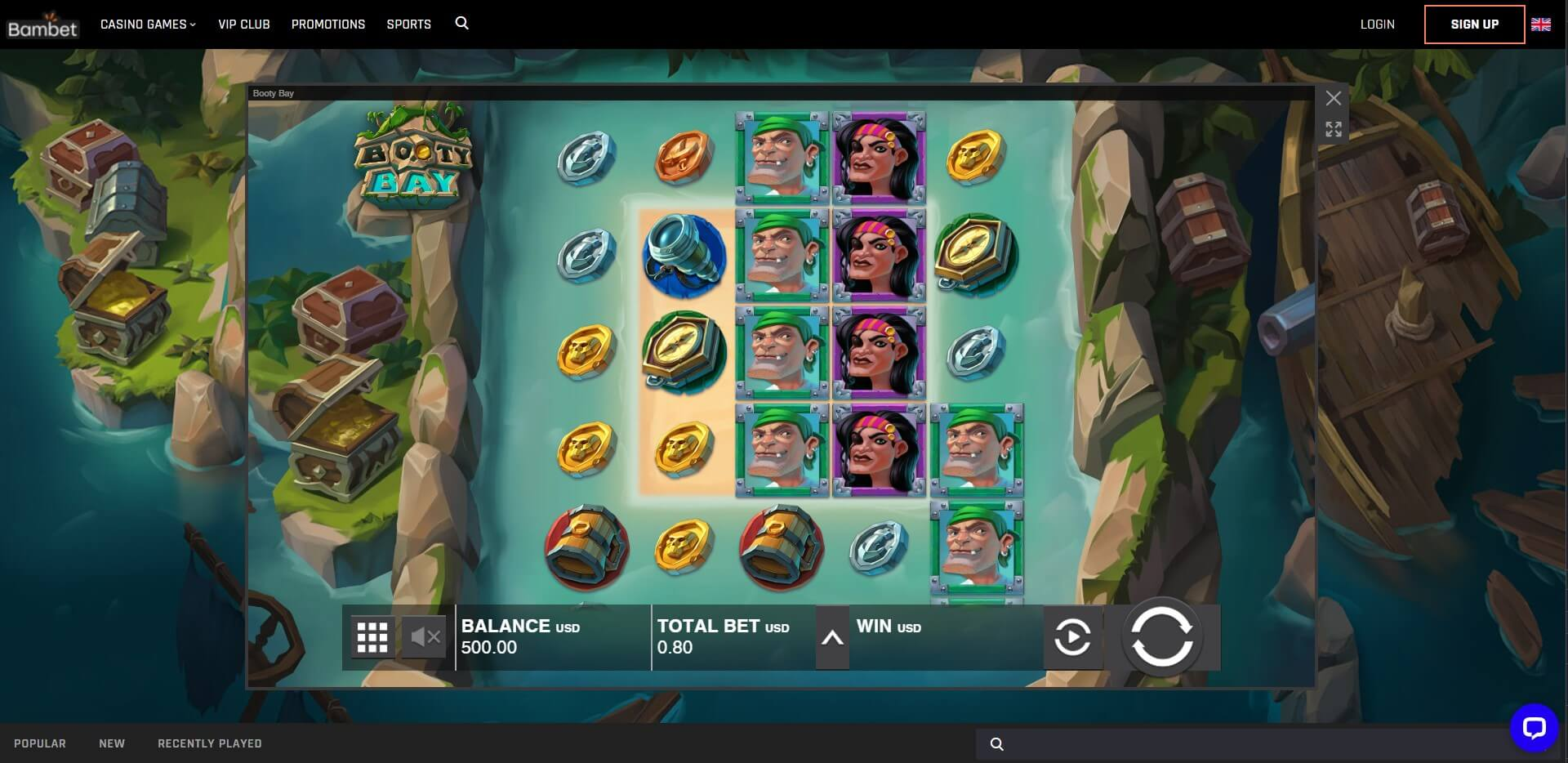 Game Play at Bambet Casino
