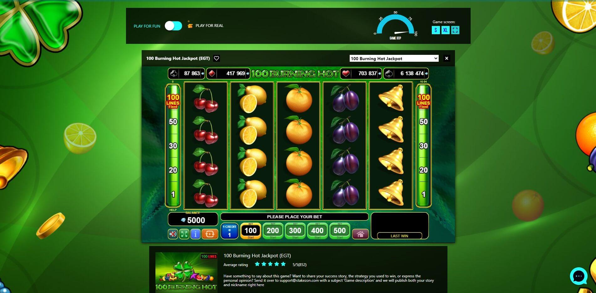 Game Play at Stakezon Casino