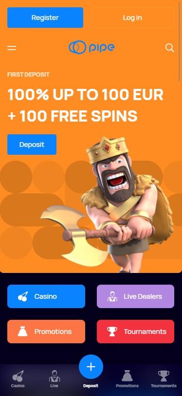 Pipe Casino - Mobile Version