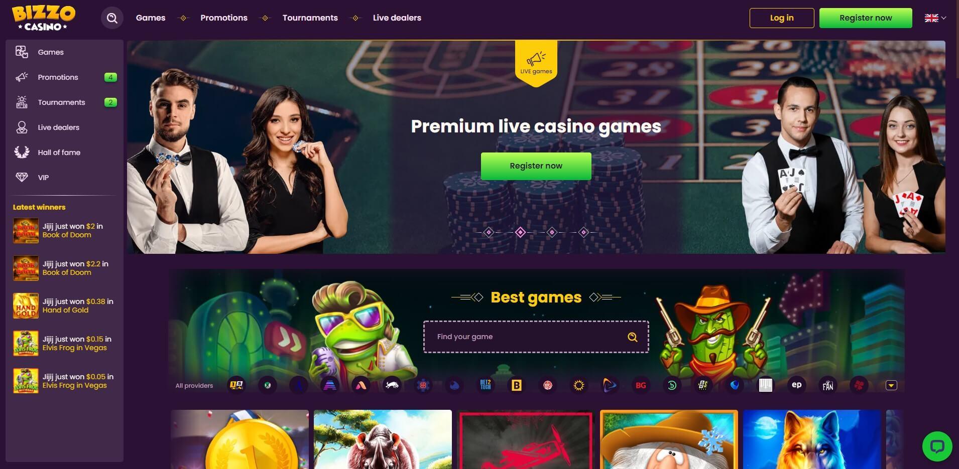 bizzocasino.com - Website Review