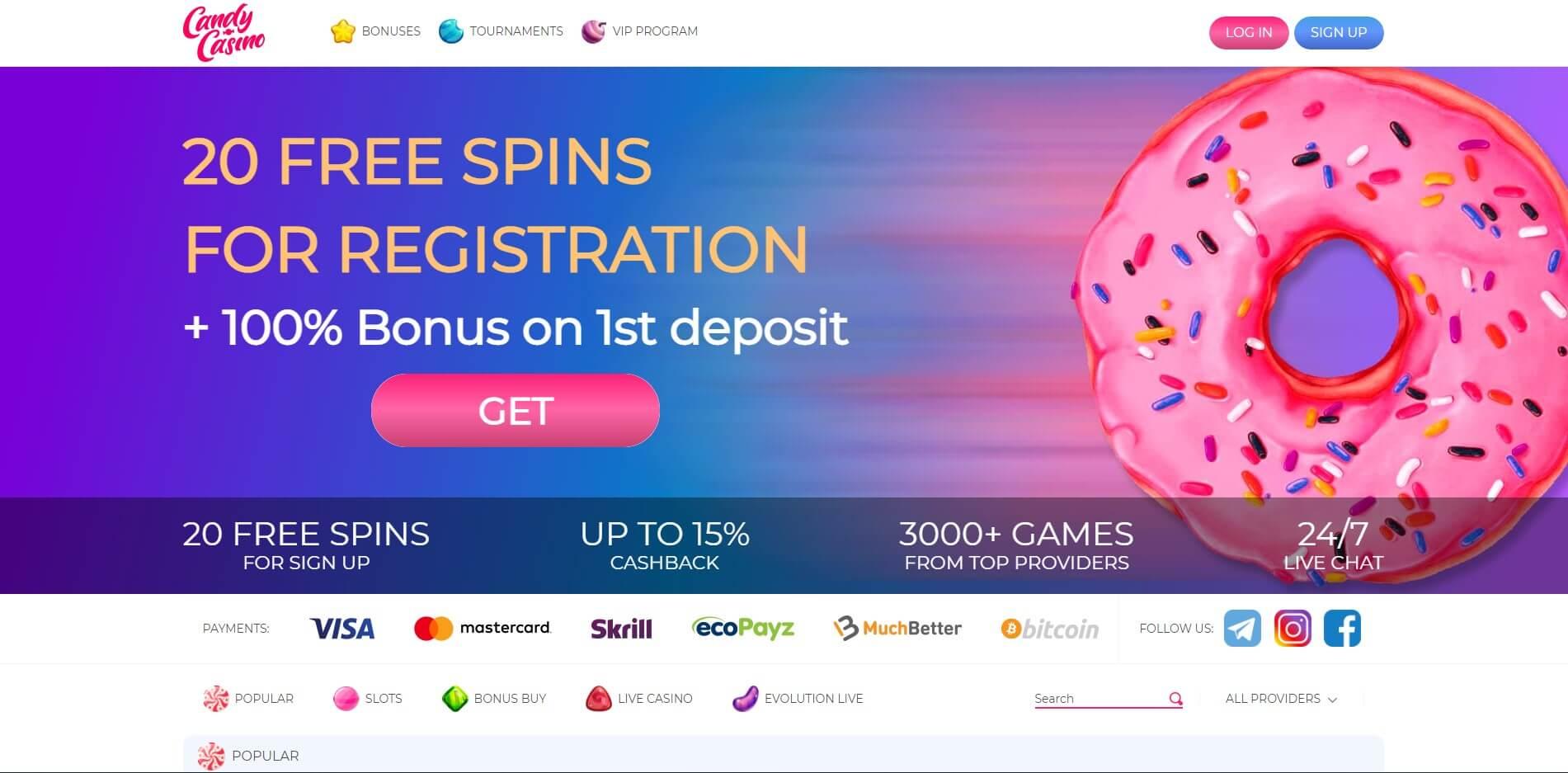 candy.casino - Website Review