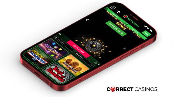 BetStorm Casino - Mobile Version