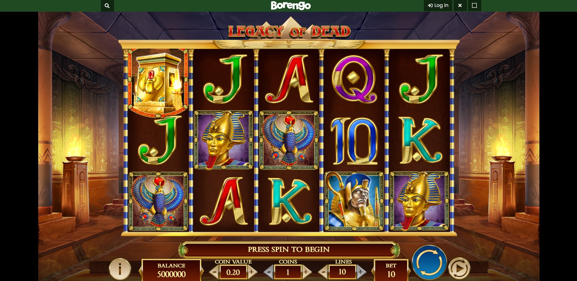 Game Play at Borengo Casino