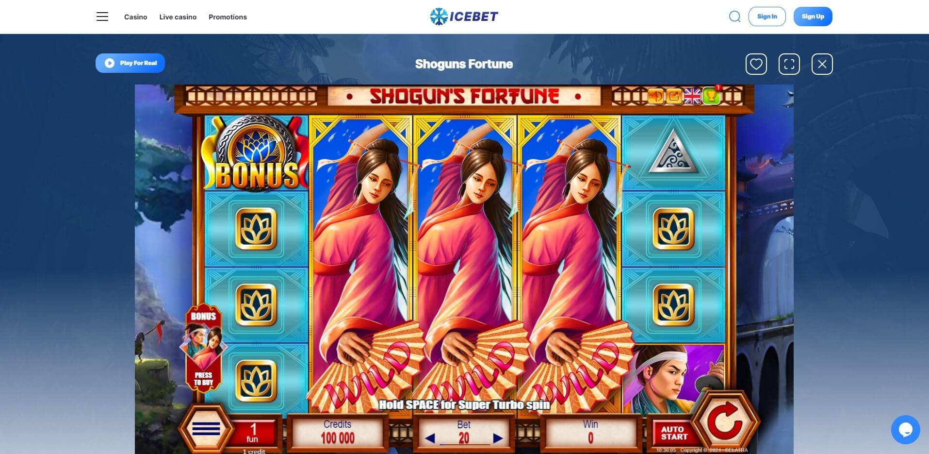 Game Play at Icebet Casino