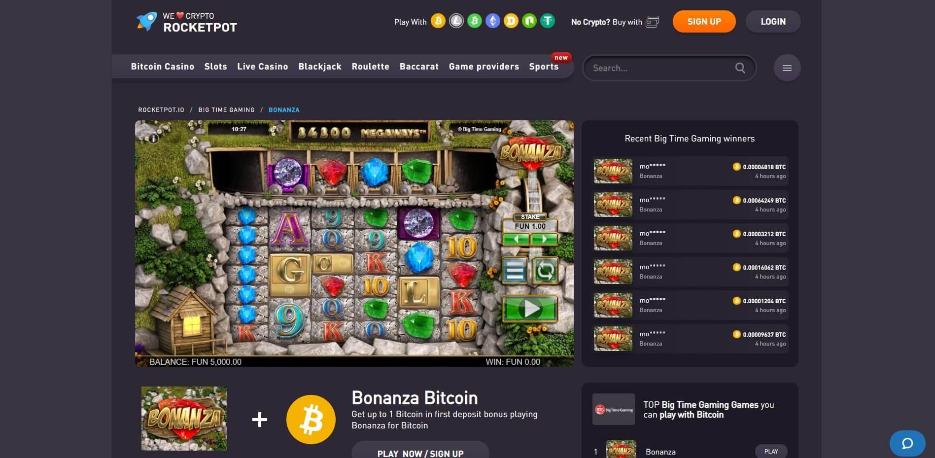 Game Play at Rockepot Casino