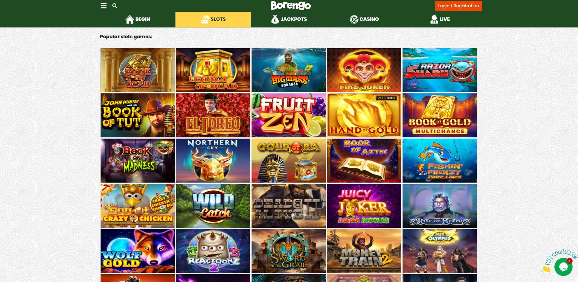 Games at Borengo Casino