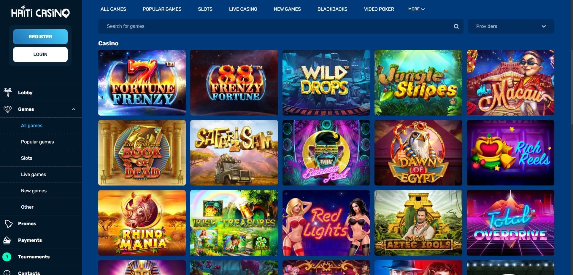 Games at Haiti Casino