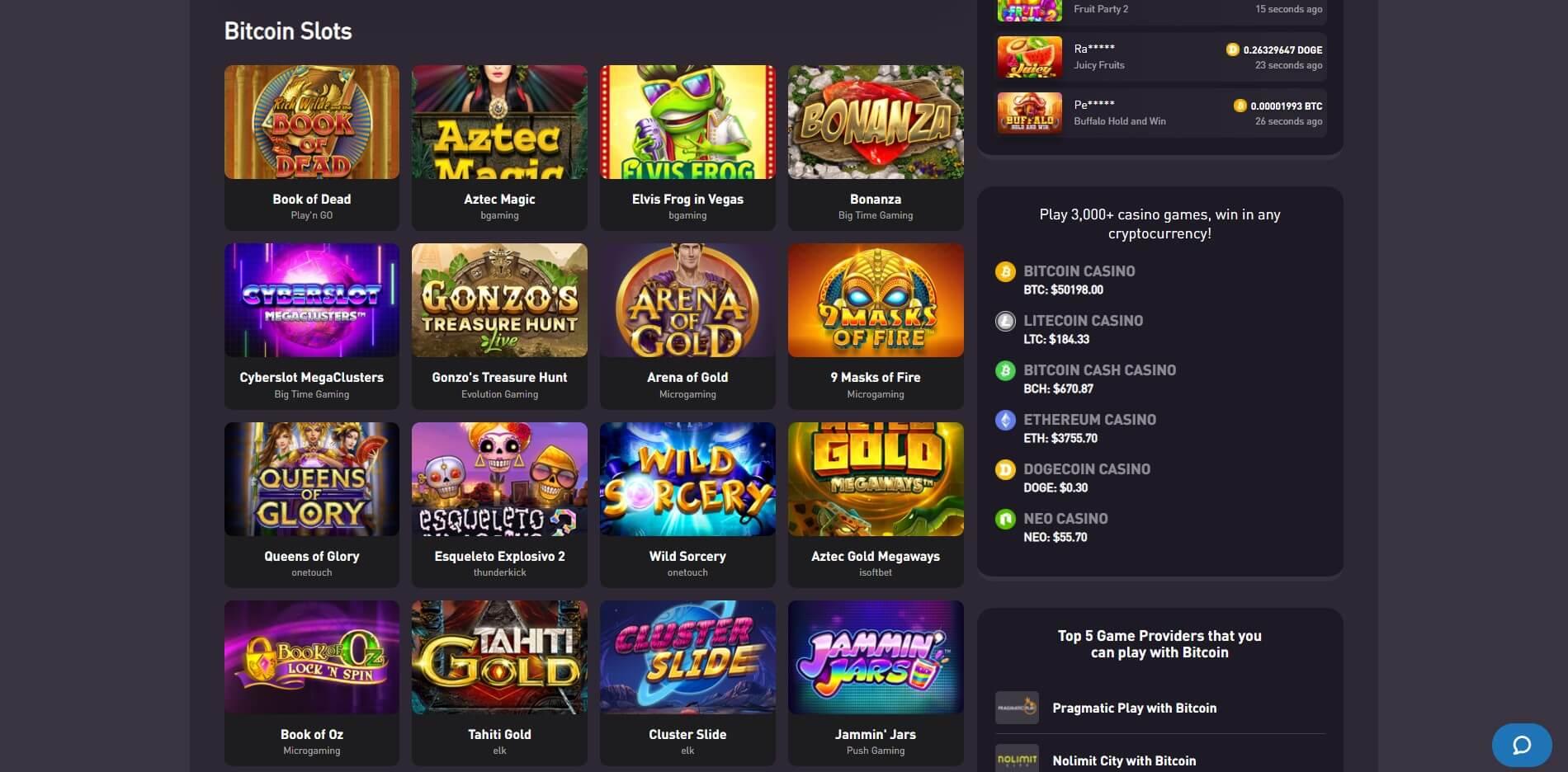 Games at RocketPot Casino