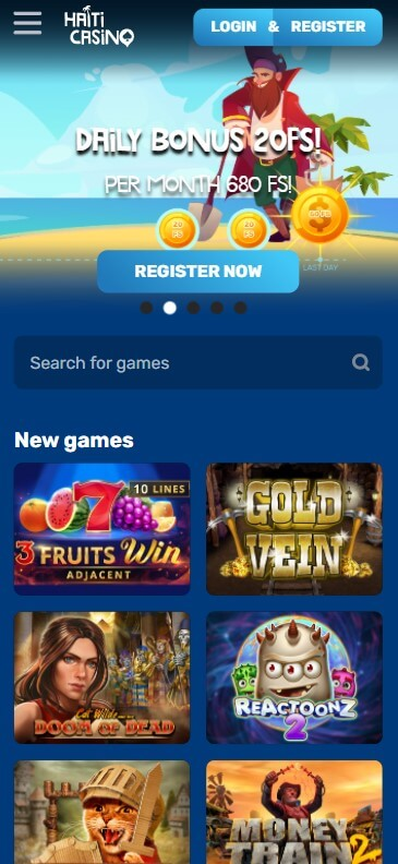 Haiti Casino - Mobile Version
