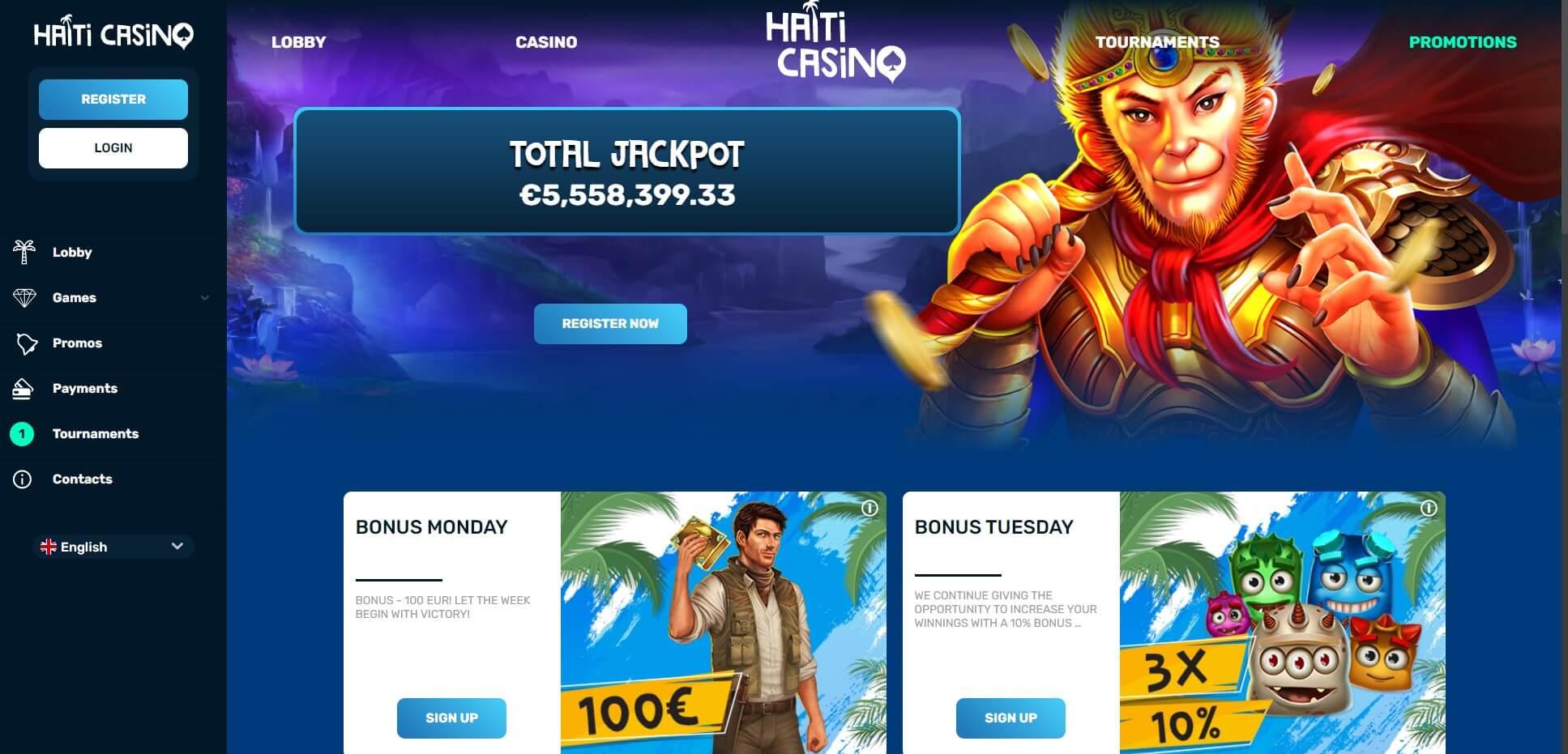 Promotions at Haiti Casino