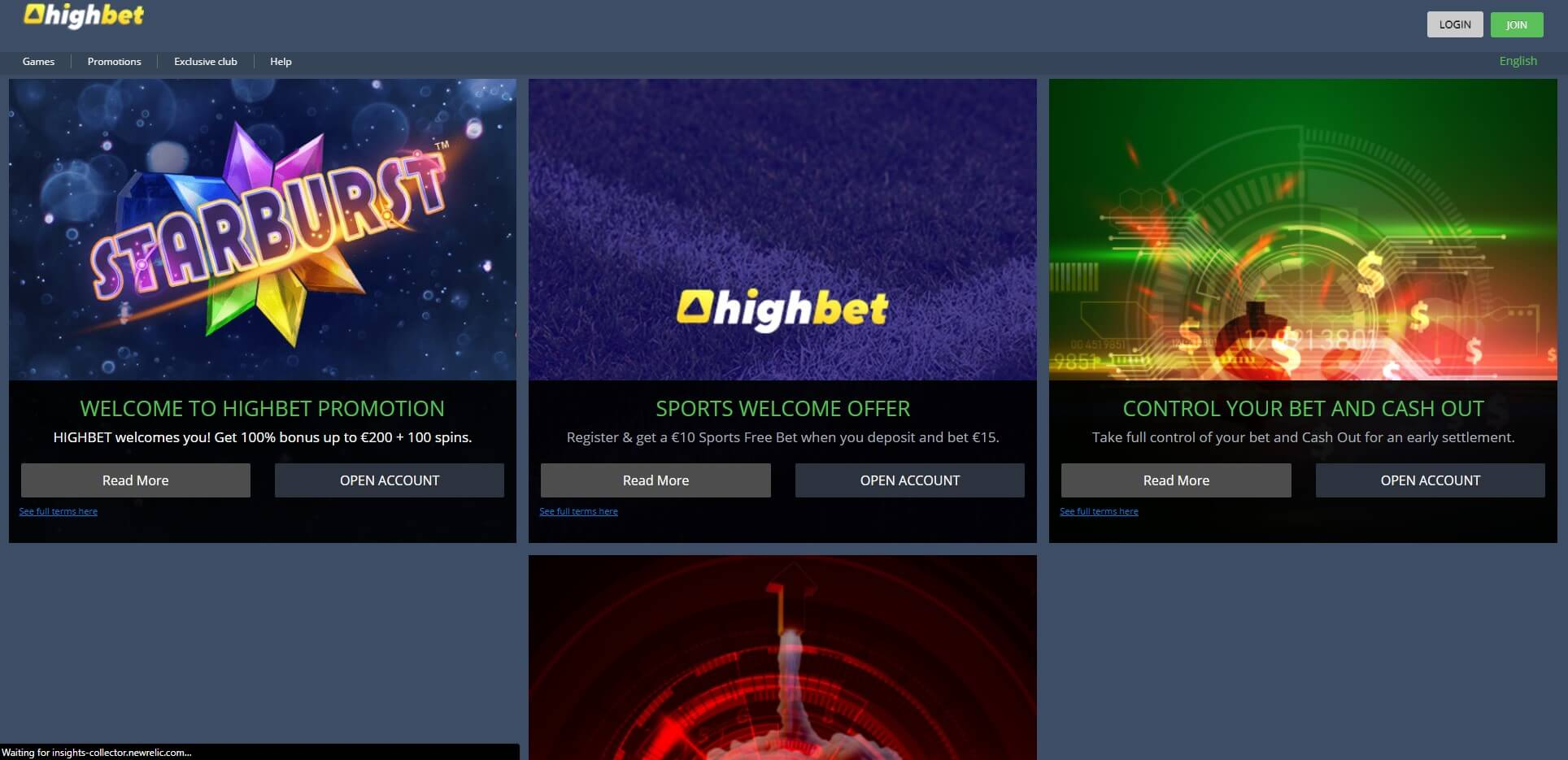 Promotions at HighBet Casino