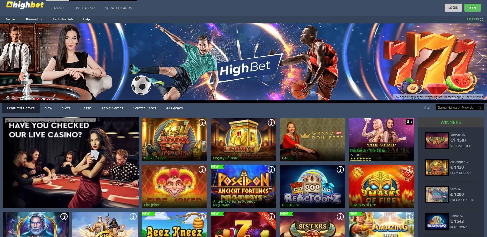 highbet.com - Website Review
