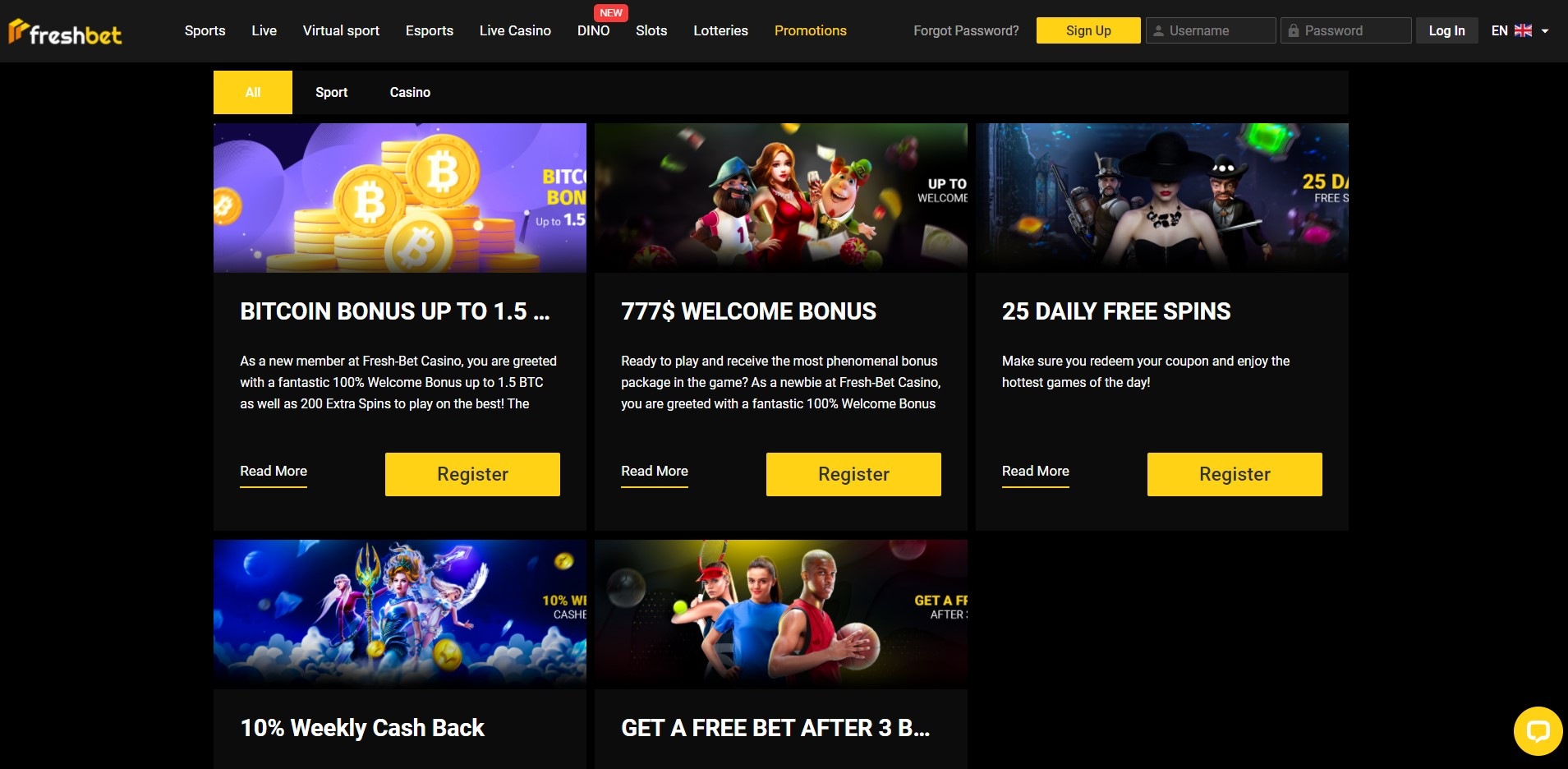 promotions at FreshBet Casino