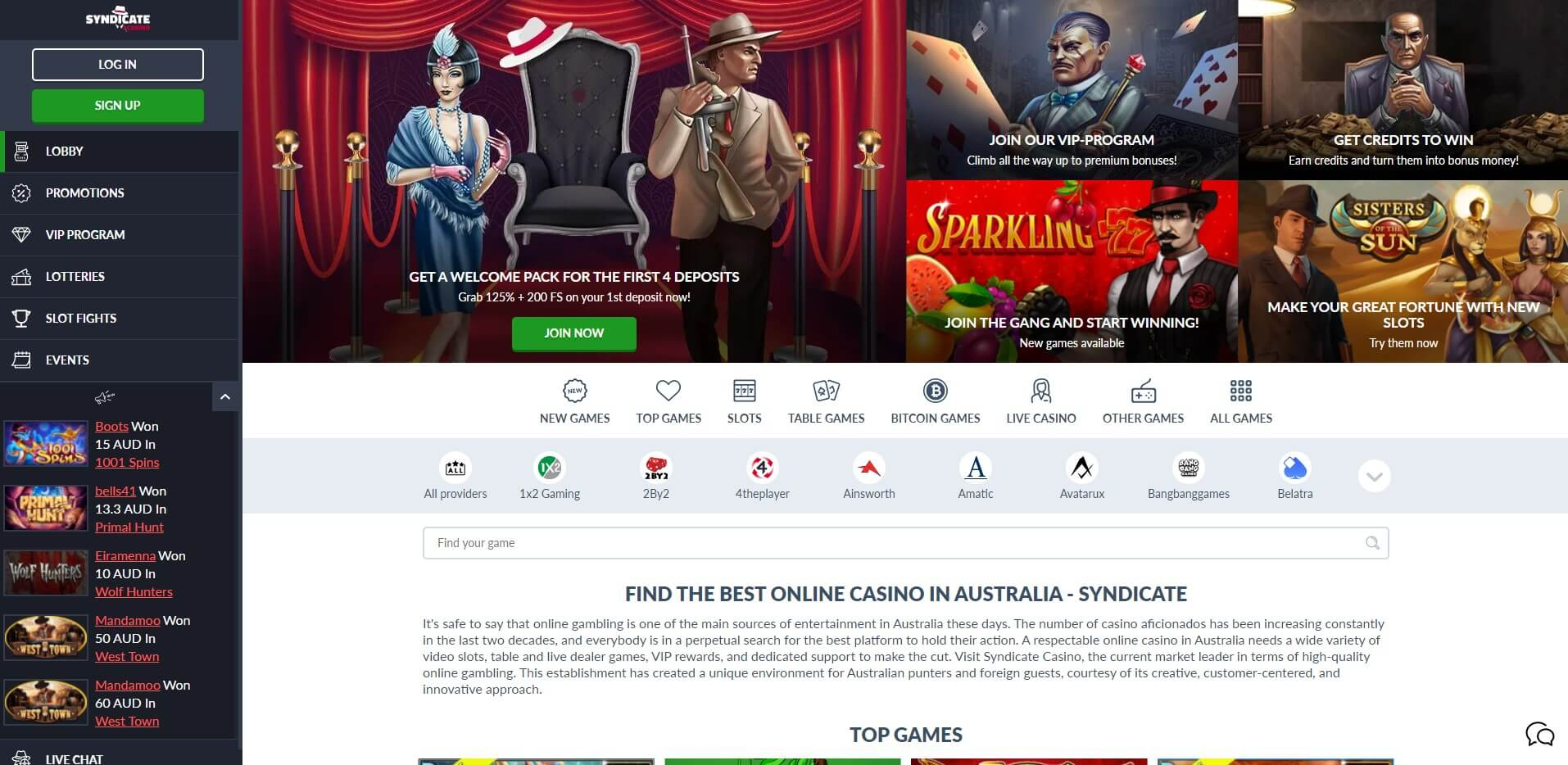 syndicate.casino - Website Review