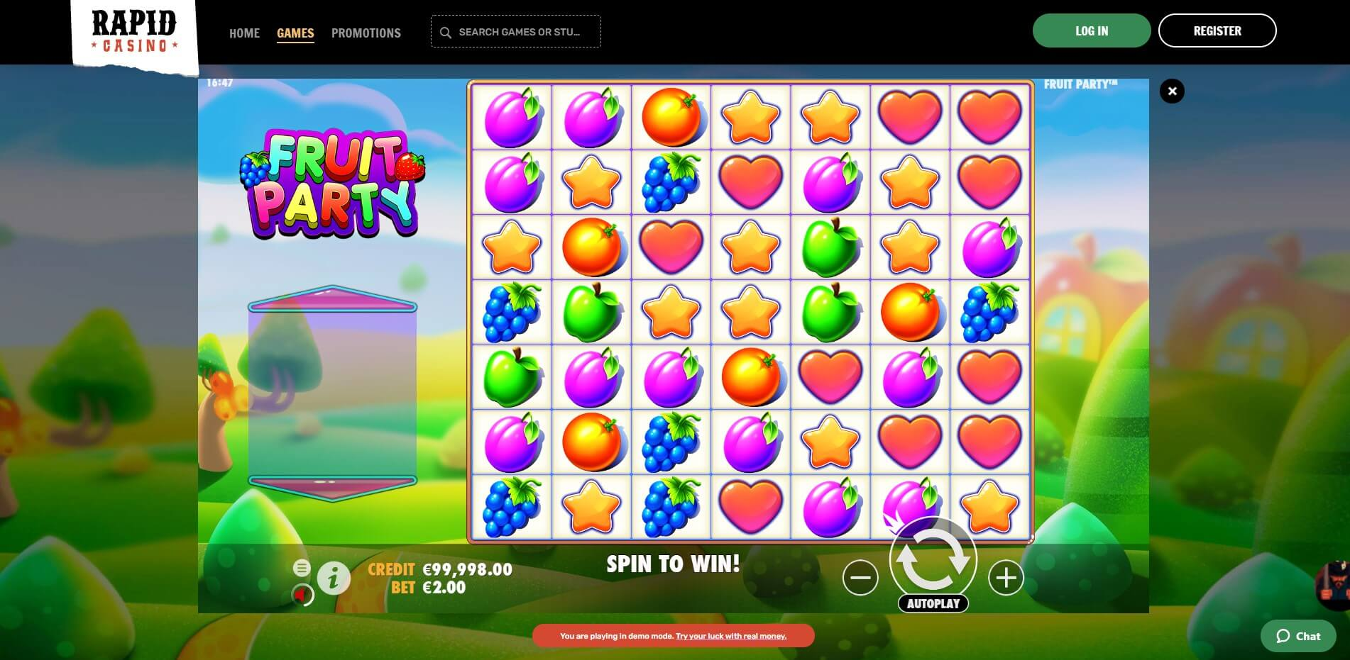 Game PLay at Rapid CAsino