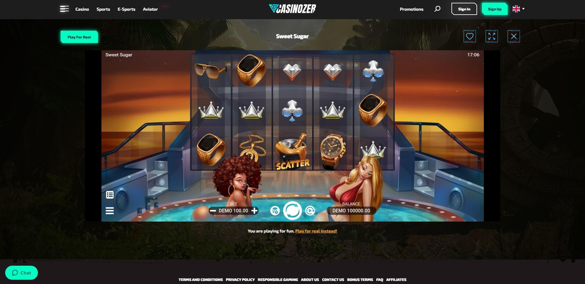 Game Play at Casinozer Casino