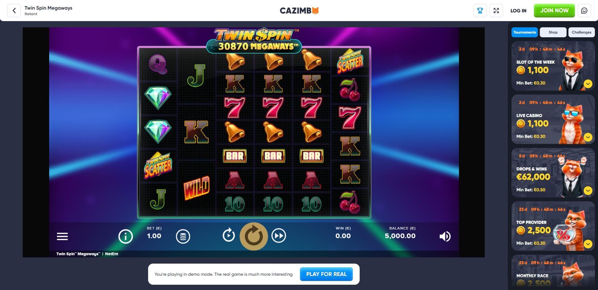 Game Play at Cazimbo Casino