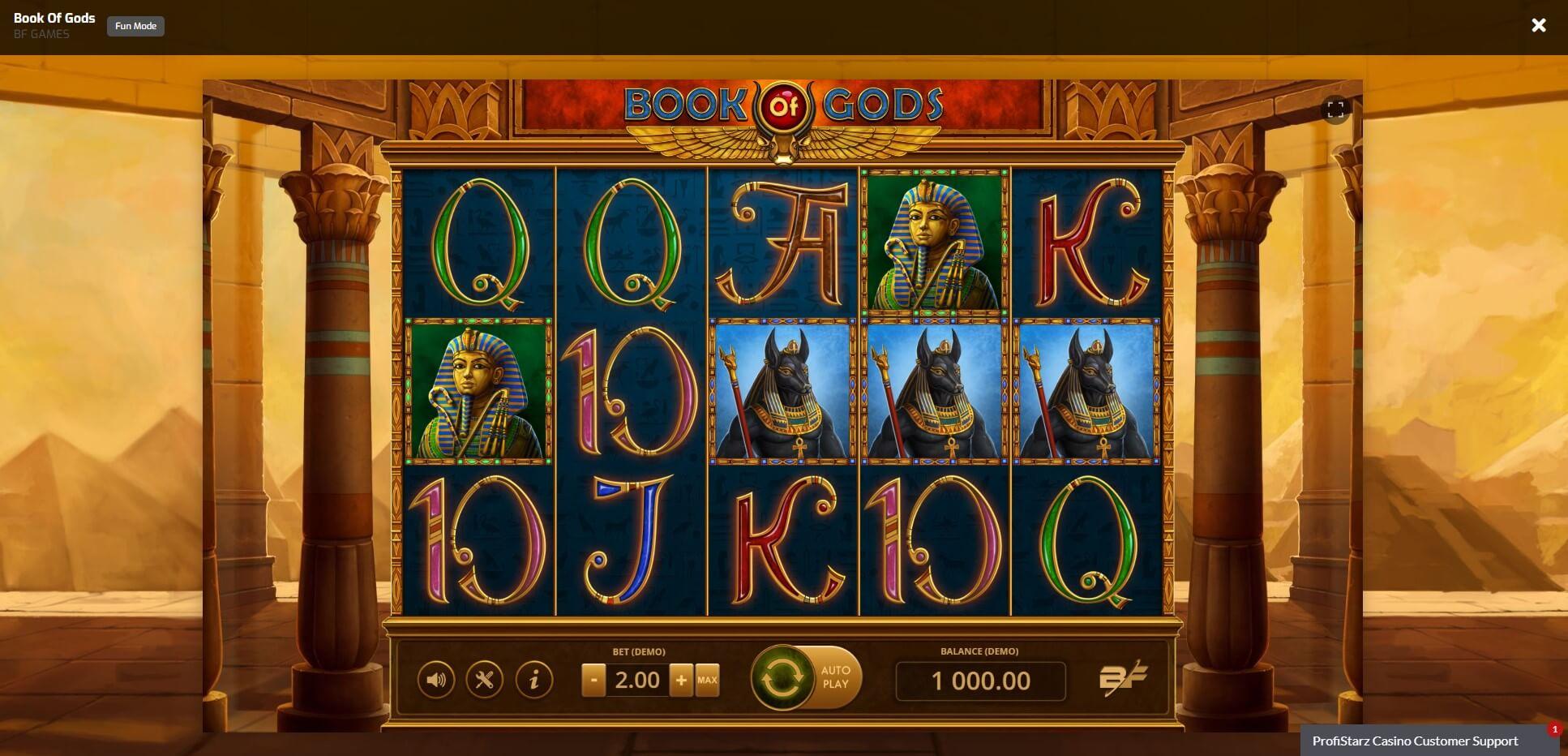 Game Play at Profistarz Casino