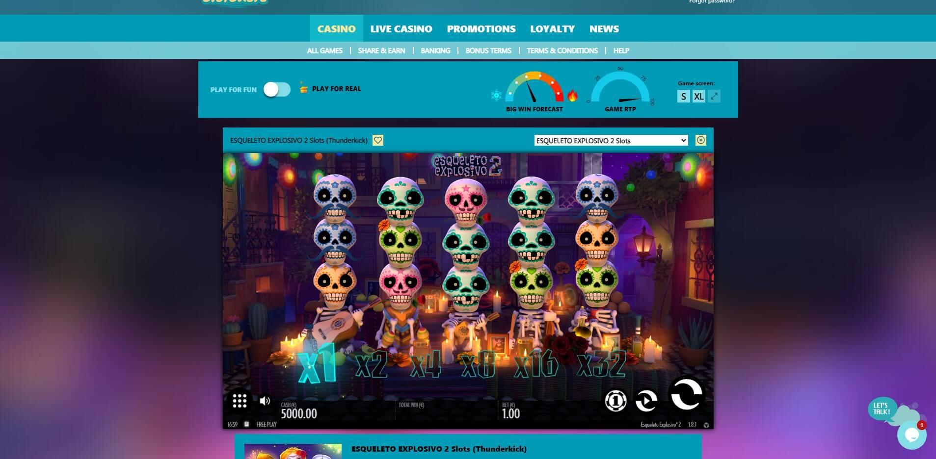 Game Play at SlotShore Casino