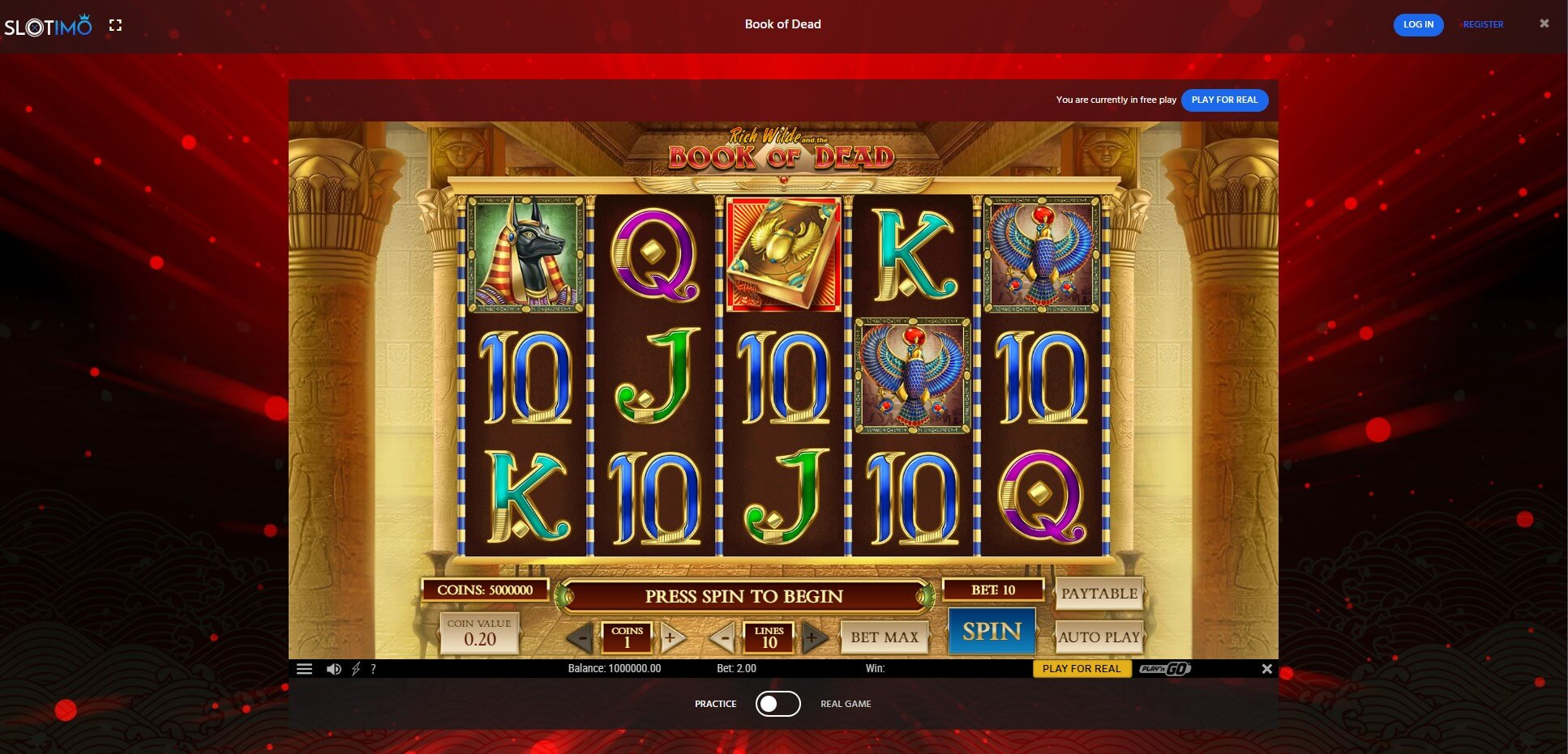 Game Play at Slotimo Casino