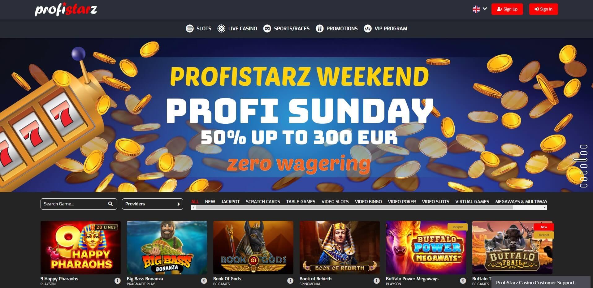 Profistarz.com - website Review