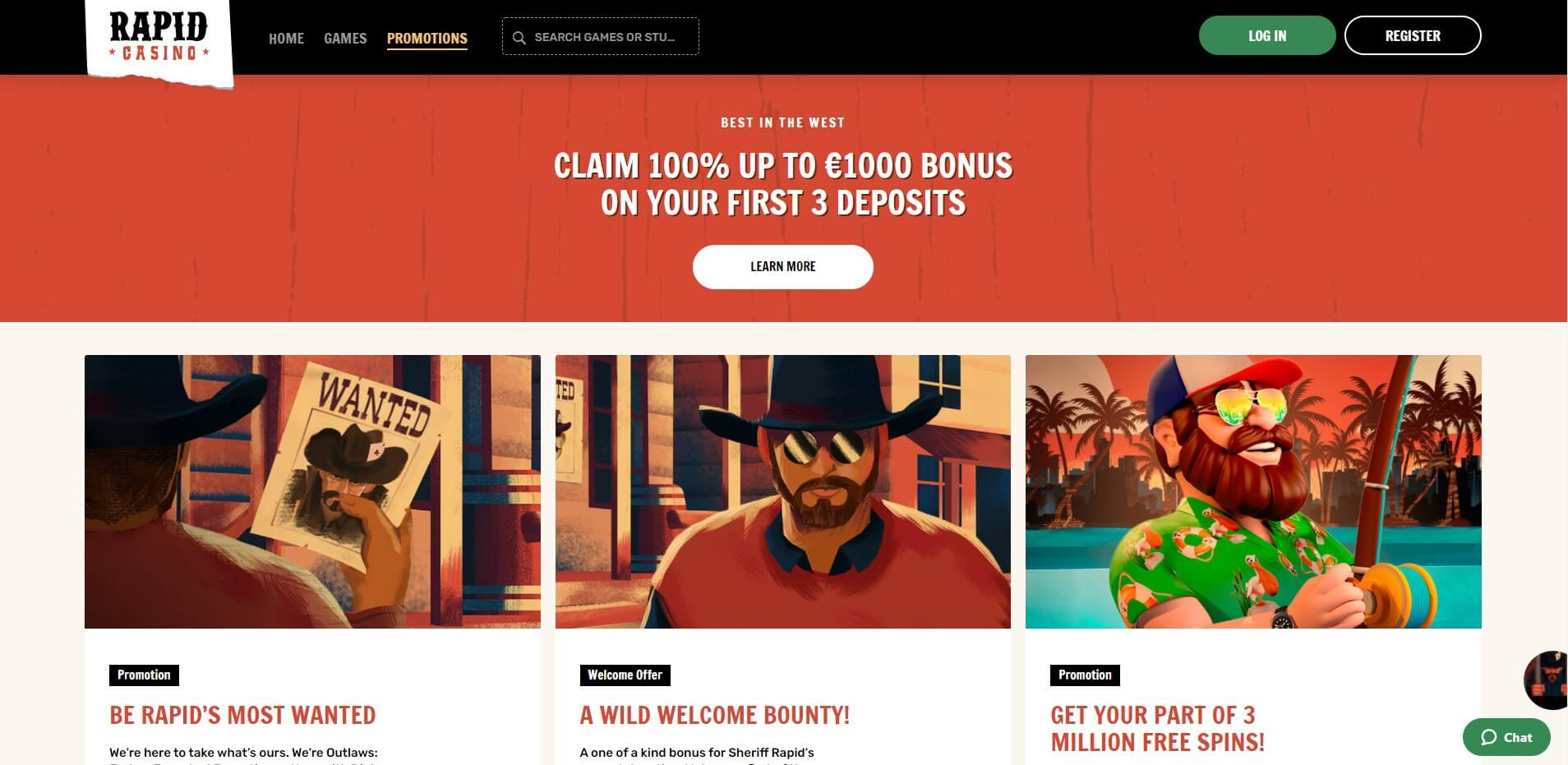 Promotions at Rapid Casino