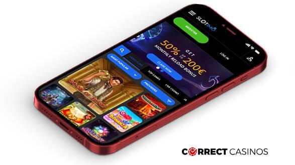Slotimo Casino - Mobile Version