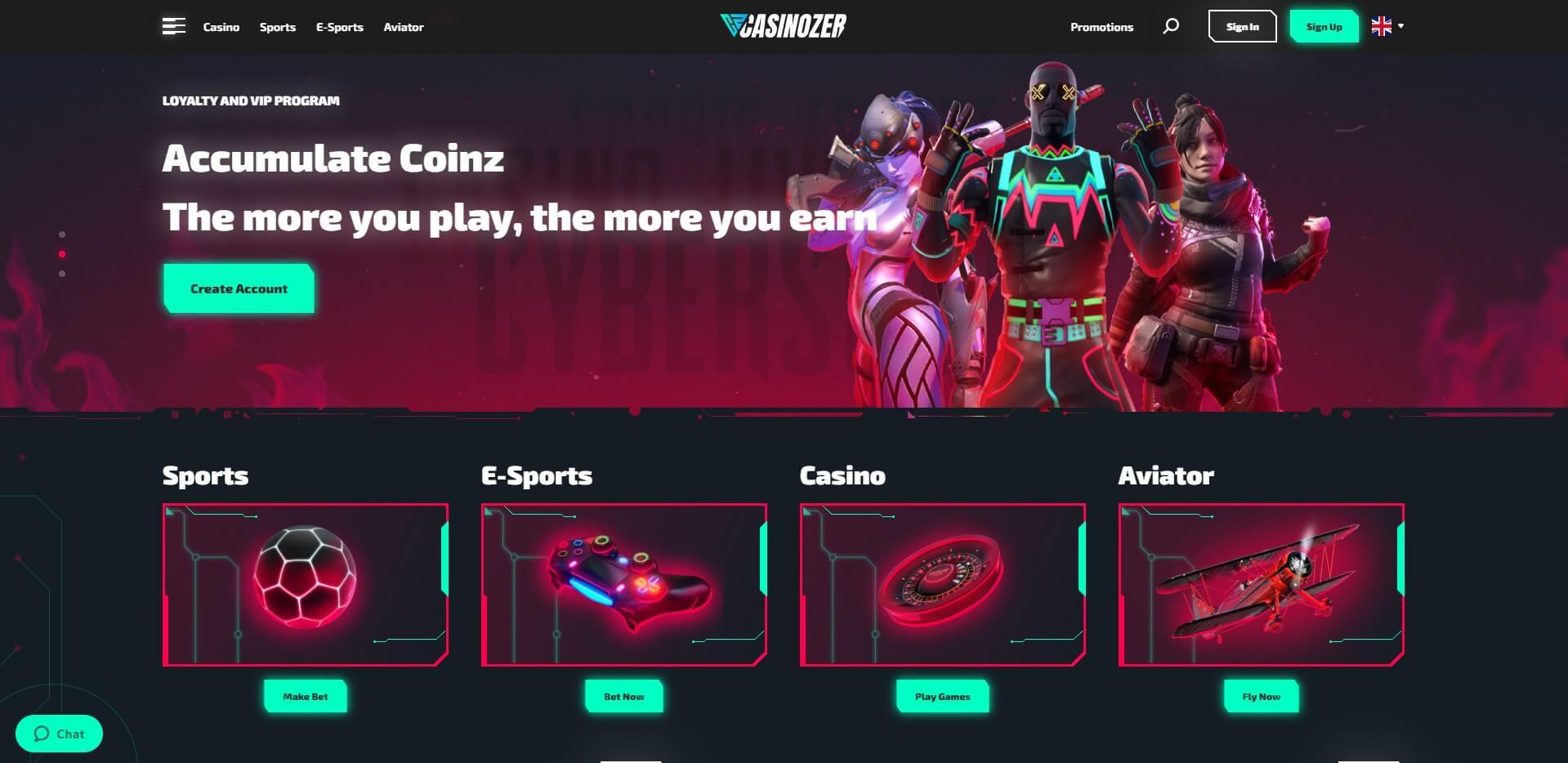 casinozer.com - Website Review