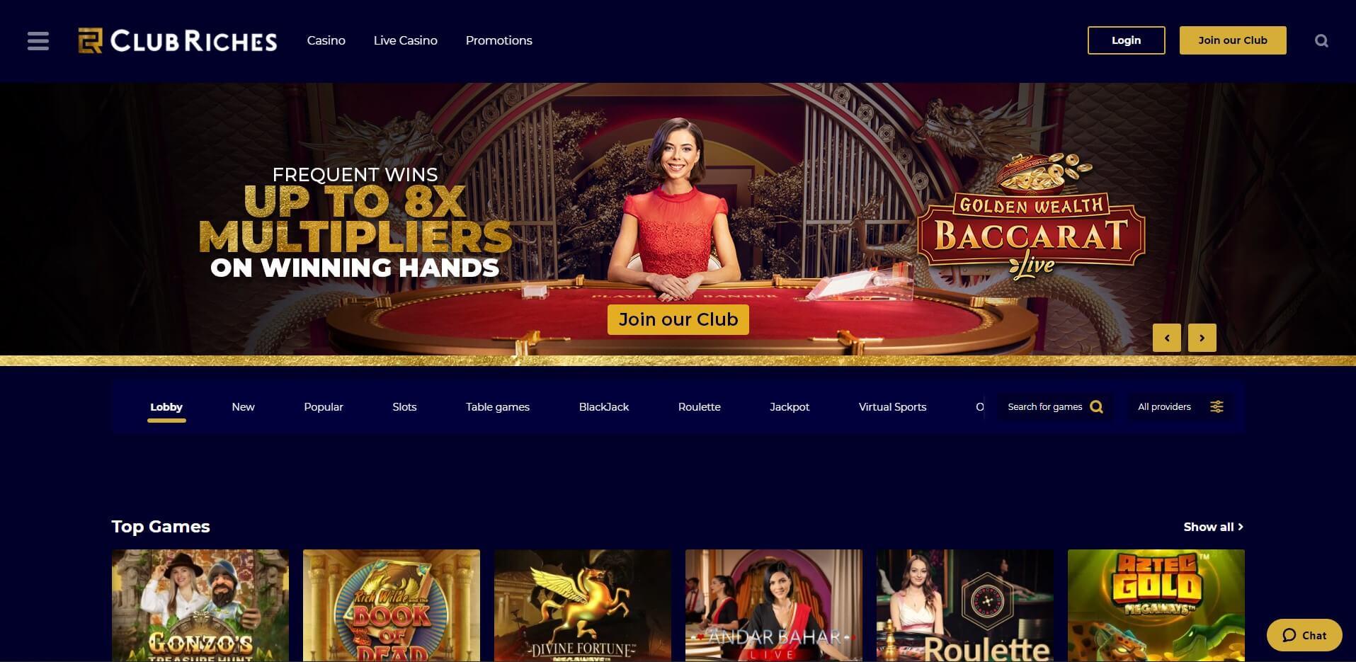 clubriches.com - Website Review