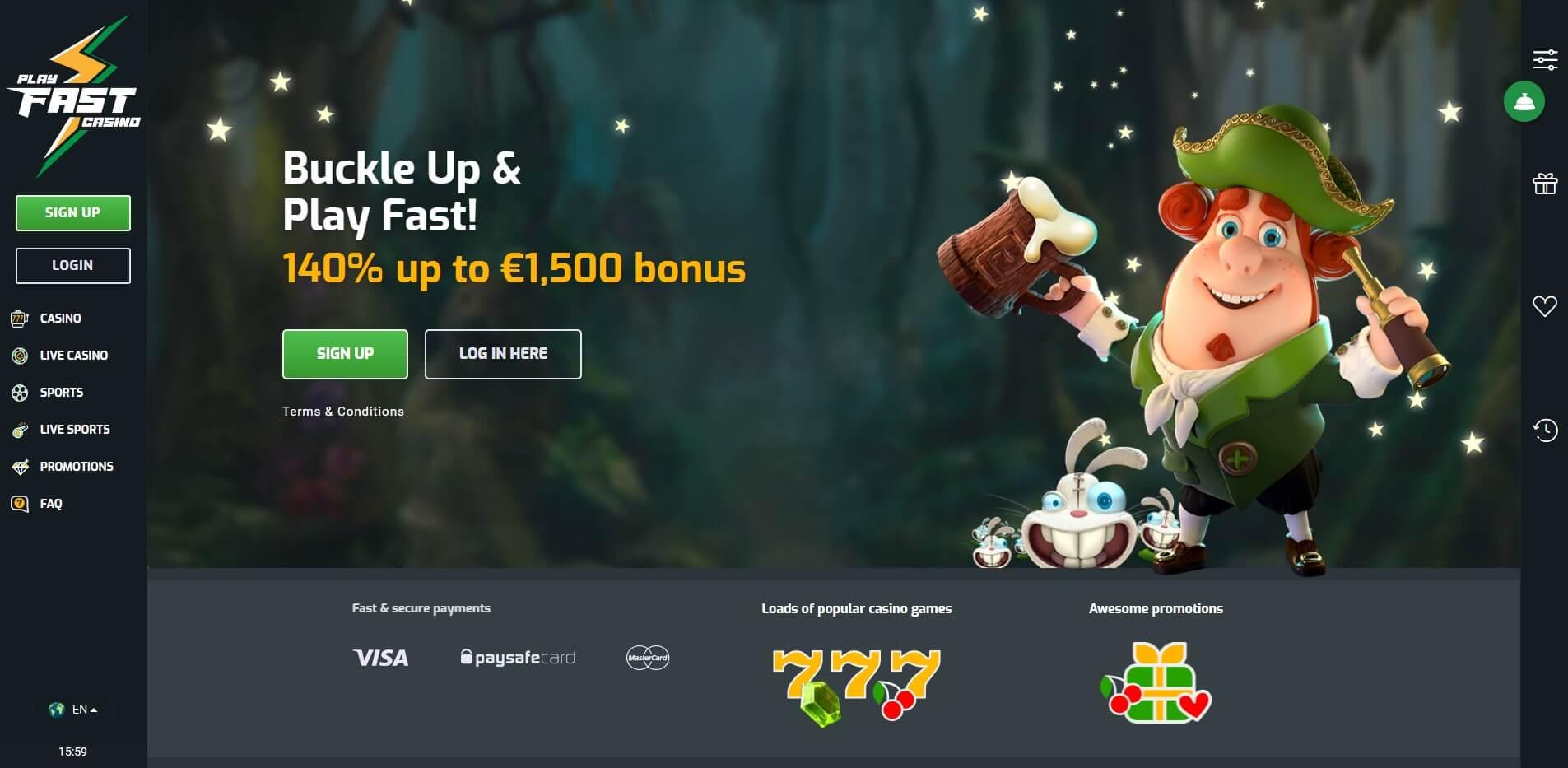 playfastcasino.com - Website Review