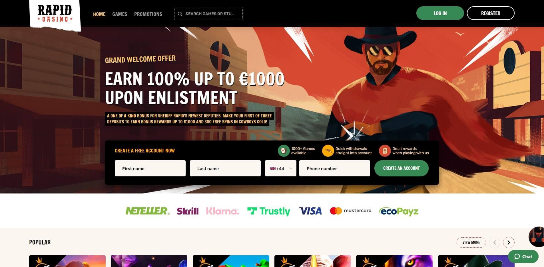 rapidcasino.com - Website Review